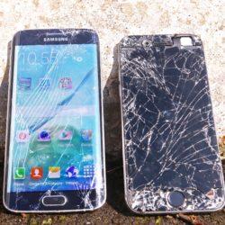 Samsung Galaxy S6 Edge VS iPhone 6 Drop Test!