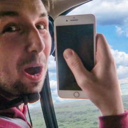 IPHONE 7 DROPPED FROM A HELICOPTER